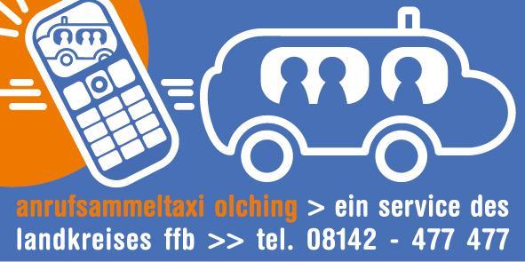 Anrufsammeltaxi für Olching