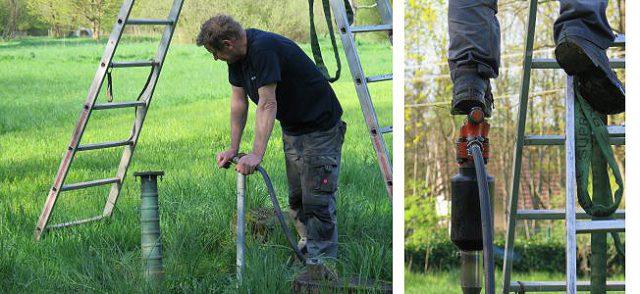 Robert Gantner (www.dein-brunnen.de) brauchte nur 5 Meter, bis er auf Grundwasser stieß.